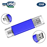 Flash Drive 32GB Android Phone, Gig Stick OTG USB2.0 Dual Flash Stick 32GB JBOS Memory Stick Thumb Drives Pen Drive Computers & Android Micro Device (Smartphone Tablet PC Samsung,etc) Blue