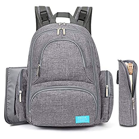 Mochila porta pañales, gran capacidad Bolsa porta pañales de fibra de nylon resistente mochila Bolsa