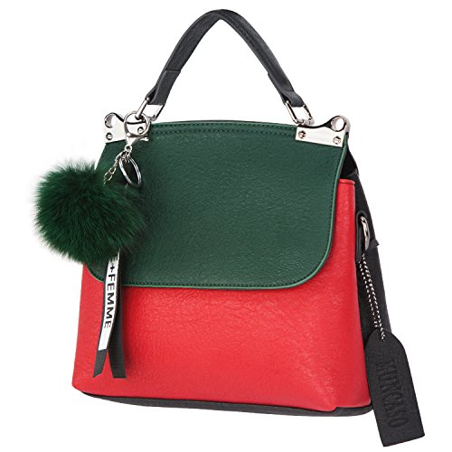 Hobo Genuine Red Handbag Muncaso Bag Green Crossbody Bag Satchel Ladies Women Leather wpXX5x4Rq