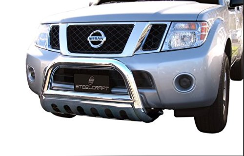 Chrome HAMMERED Stainless Steel Bull Bar Brush Bumper Grille Guard Heavy Duty Nissan Frontier (Nissan Frontier Brush compare prices)