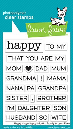Family Stamps (Lawn Fawn Lf1585 Clear Stamps 3x2-Happy Happy Happy Add-On: Family)