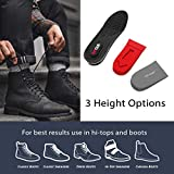 6FT CLUB's 3-Layer Height Increase Insole 2.35-Inch Shoe Lifts for Men