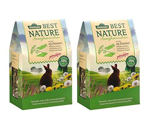 Dehner Best Nature Zwergkaninchenfutter, 2 x 1.5 kg, 2er Pack (3 kg)
