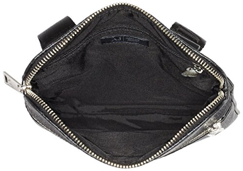 Armani Jeans Repeat Logo Klein Kuriertasche Schwarz