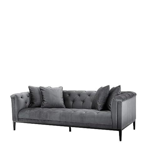 Amazon.com: Sofá gris granito | Eichholtz Cesare | Conjunto ...
