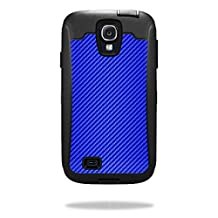 MightySkins Protective Vinyl Skin Decal for OtterBox Defender Samsung Galaxy S4 Case wrap cover sticker skins Blue Carbon Fiber