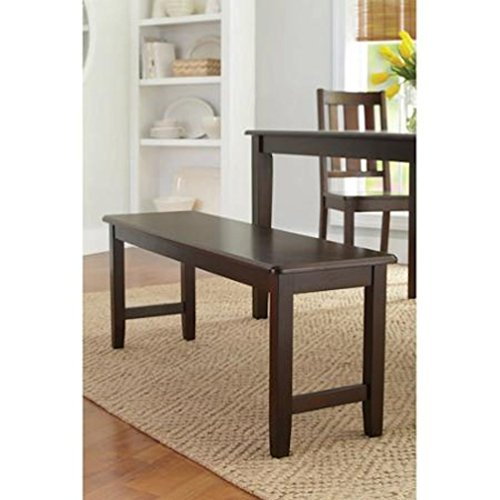 espresso dining table with bench - 2