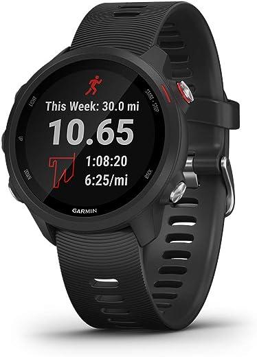 Garmin Forerunner 245 Music Rubber Smart Watch (Black)