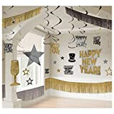 Amscan Rocking New Year Party Giant Room Decorating Kit (28 Pack)
