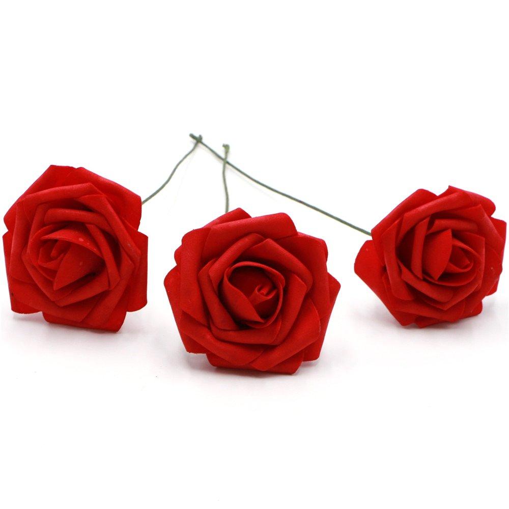 Amazon.com: 50 pcs Artificial Flowers Foam Roses Various Colors For ...