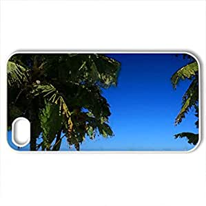 Bahamas Beach - Case Cover for iPhone 4 and 4s (Beaches Series, Watercolor style, White)