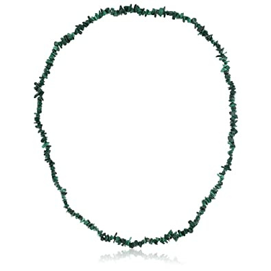 green large necklace gemstone blue silver chain stones chrysocolla products image bar chip
