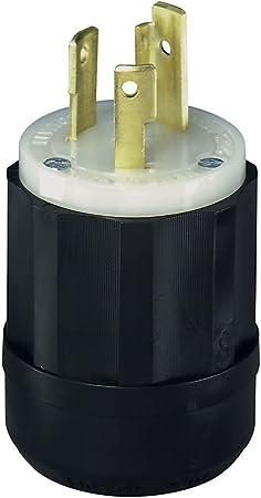 Leviton 061-2621 30 Amp 3w 2p Nema L6-30p Locking Plug,No 061-2621