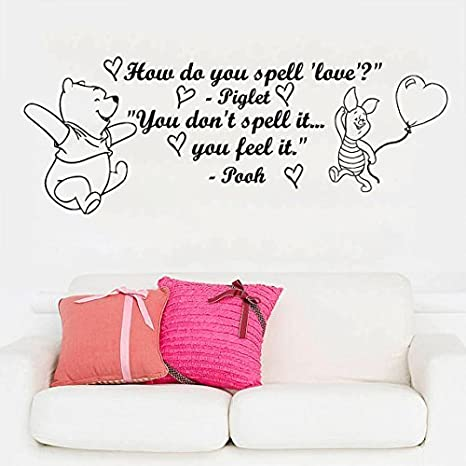 Amazon.com: How Do You Spell Love Wall Decals Quotes Kids ...
