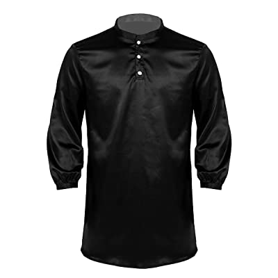 ACSUSS Mens Mock Neck Silk Robe Pajamas Soft Long Sleeve Casual Bathrobe Sleepwear Homewear at Amazon Men's Clothing store