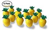 Plastic Pineapple Cups with Green Top- 12 Cups (1 Dozen, Bulk 10 Oz. Each)