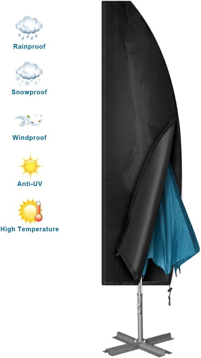 Chenci 420D Schutzh/ülle f/ür Sonnenschirm Schutzh/ülle f/ür Ampelschirm Oxford die meisten Sonnenschirme f/ür den Garten: 3 m x 4 m//4 m x 4 m UV-Schutz wasserdicht//staubdicht