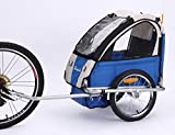 Sepnine baby bicycle trailer for one child BT-505 (blue/grey)