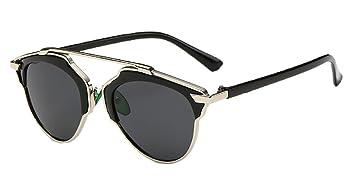 Ralink Retro de gafas de metal gafas de sol polarizadas TAC UV de objetivo de ojo
