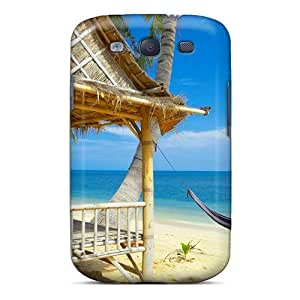 EeI5385dDSu Mtwilliam Awesome Case Cover Compatible With Galaxy S3 - Tropical Beach Cabinet Cancun Us Com