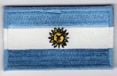 Embroidery Patch Argentina Flag Applique Argentine Argentinian ()