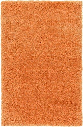(Unique Loom Luxe Solo Collection Plush Modern Orange Area Rug (5' x)