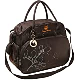 MyGift Brown Deluxe Traveling Baby Supplies Diaper Bag Set w/ Changing Pad & Insultated Bottle Holder