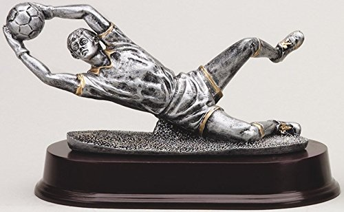 Etch Workz Customize Resin Award - 3D Action - Soccer Goalie Resin Trophy - Engraved Gold Plated - Personalized Free (Male)