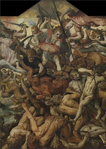 Princess Diaries Costume Designer (The High Quality Polyster Canvas Of Oil Painting 'The Fall Of The Rebel Angels By Frans Floris I,1554' ,size: 16x22 Inch / 41x57 Cm ,this High Quality Art Decorative Prints On Canvas Is Fit For Study Decoration And Home Gallery Art And Gifts)