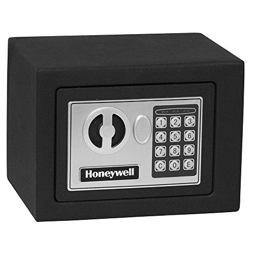 Honeywell 5005 Steel Security Safe with Digital Lock, 0.17-Cubic Feet, Black