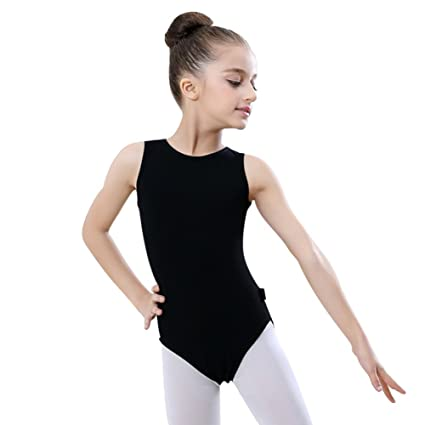 b178c8bf0 Amazon.com   Gsha Girls Sleeveless Ballet Leotards One-Piece ...