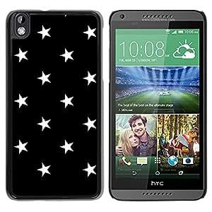 Graphic4You Stars Pattern Design Thin Slim Rigid Hard Case Cover for HTC Desire 816 (Black)
