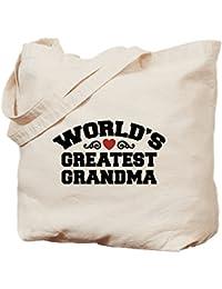 World's Greatest Grandma - Natural Canvas Tote Bag, Cloth Shopping Bag