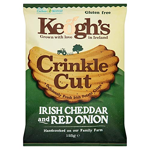 Keogh's Crinkle Cheese & Red Onion 3x125 Grams Deliciously fresh Irish potato - Chips Crinkle