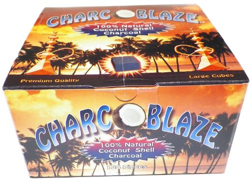 12X Charcoblaze Natural Coconut Hookah Charcoal 1 Case by Charcoblaze