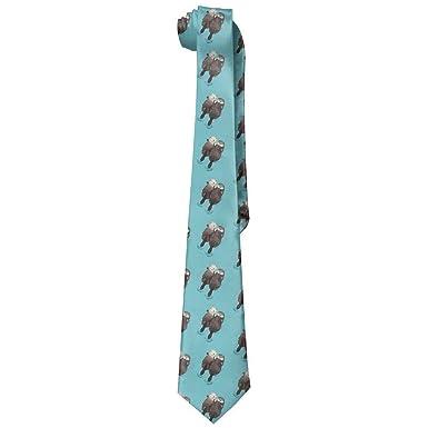 deyhfef Funny Cute Otter Baby Mens Skinny Tie Corbata Neckwear ...