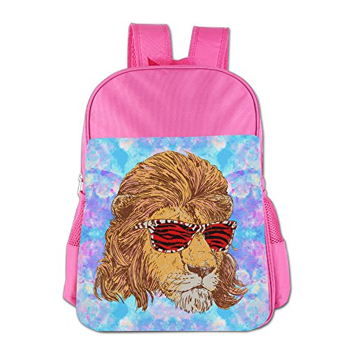 King Of The 80s Lion With Tiger Skin Sunglass Boys Girls 4-15 Age School Bookbags - Kid 80s Sunglasses Baby