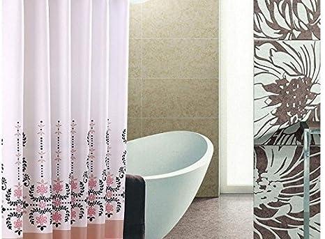 Tende Da Doccia Design : Viola chiaro addensato a margherite tenda da doccia in