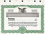 KG 2 Stock Certificate, Green Border, Pack of 15