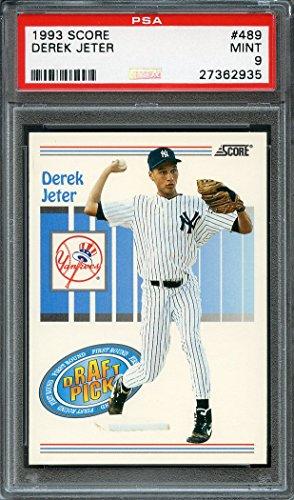 Derek Jeter Graded PSA 9 MINT (Baseball Card) 1993 Score - [Base] #489 (Snowmobile Box Set)