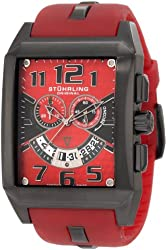 Stuhrling Original Men's 255A.3357H75 Leisure Mad Man C-2 Swiss Quartz Chronograph Date Red Watch