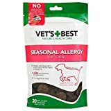 Vet's Best Seasonal Allergy Soft Chews Dog Supplements, 30 Day Supply
