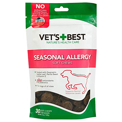 Vets Best Seasonal Allergy Soft Chews Dog Supplements, 30 Day Supply