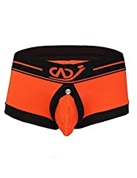 Boxer Brief Men's Brief Buckled Pouch Sexy Bulge Underwear Crotchless Panties