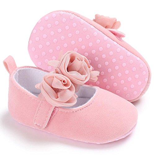 Igemy 1 Paar Baby Säugling Kinder Mädchen Soft Sole Krippe Kleinkind Neugeborene Schuhe Rosa