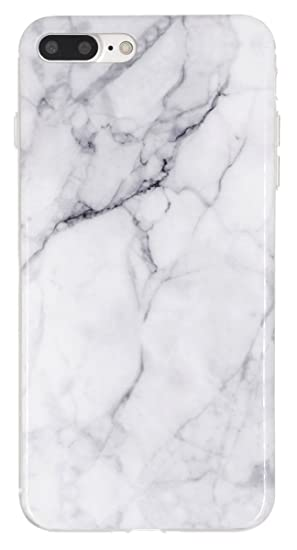 amazon com iphone 7 plus case iiexcel white marble pattern imd