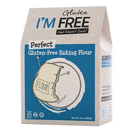 (I'm Free Perfect Gluten-Free Baking Flour ☮ Vegan ⊘ Non-GMO ❤ Gluten-Free ✡ OU Kosher Certified - 1 lb.)