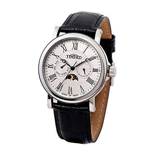 Time100 Herren-Armbanduhr mit romanischen Nummern-Skalas und Tag-Nacht-Anzeige W80035G.01A