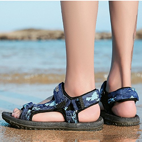 al Sandalias cuero para los dedo la del hombres ajustables sandalias pie ocio del de convenientes de verano respirables playa del y ocasionales aire los de libre Blue de antideslizantes deportes interiores 1wEp1qxR