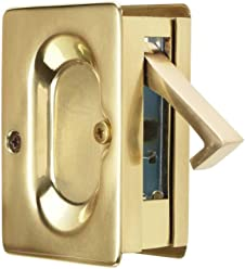 Emtek Pocket Door Passage Set in Satin Brass